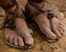 Jesus feet sandals