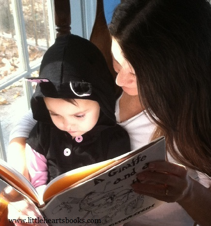 toddler and mommy reading