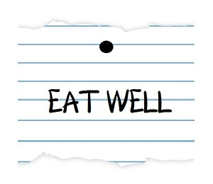 notebook paper EAT WELL