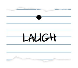 notebook paper LAUGH