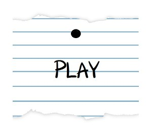notebook paper PLAY