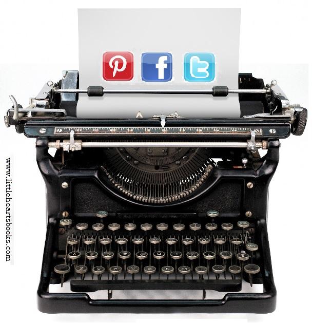 social media vintage typewriter